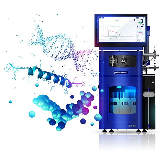 Purification of peptides and oligonucleotides puriFlash 5.250P